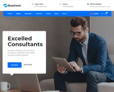 businext-wordpress-responsive-theme-desktop-full